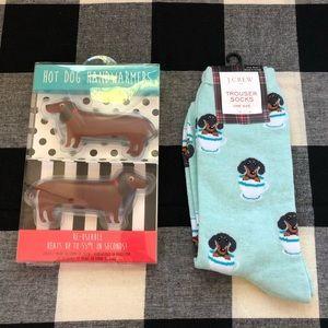🎄J.Crew dachshund socks & hand warmers NWT gift🎄